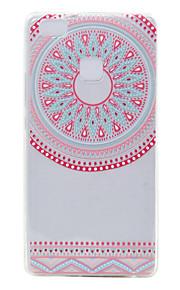 TPU transparante dunne de rode halve cirkel voor Huawei p9 / p9 lite