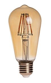 8W E26/E27 LED-globepærer ST64 8 COB 750 lm Varm hvit Dekorativ / Vanntett AC 85-265 V 1 stk.