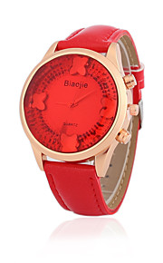 Mulheres Relógio de Moda Quartz Relógio Casual PU Banda Relógio de Pulso Azul / Vermelho / Marrom / Roxa / Rose