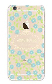 Kakashi litt frisk serie tpu maleri myk sak for iPhone 6s / 6/6-ere pluss / 6 pluss (blå blomst)