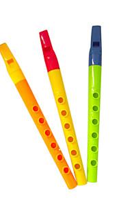 amarelo / verde flauta infantil para as crianças todos os instrumentos musicais entrega aleatória brinquedo