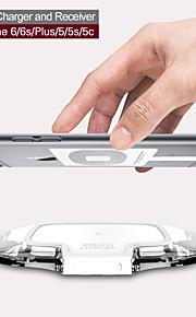 mindzo W07 carregador padrão qi e receptor sem fio para iphone6 / 6s / plus / 5 / 5s / 5c,