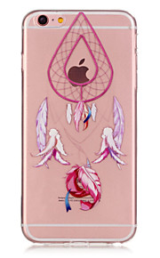 TPU pink campanula dreamcatcher mønster transparent blød ryg tilfældet for iphone 6s 6 plus