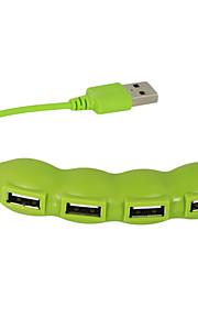 USB 2.0 de 4 puertos / interfaz de concentrador USB frijol preciosa vegetal 11 * 2 * 1