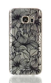 cassa del fiore del modello TPU materiale di telefono per Galaxy S4 / s4mini / S6 / S6 bordo / bordo S6 plus / S7 / bordo s7