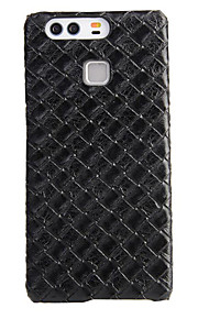AWEI Woven Pattern of Carbon Fiber PU Case for HUAWEI P9 Plus