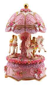 keramik pink kreativ romantisk musik boks til gave