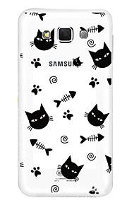 coperture del telefono mobile di TPU trasparente cava crtoon per Samsung e7