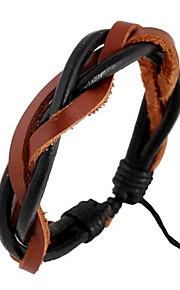 Læder Armbånd 1pc,Sort / Brun Armbånd Læder Smykker Dame / Herre