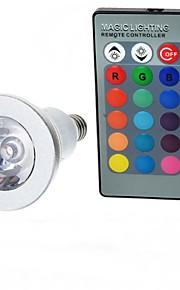 3W E14 LED-globepærer A50 1 Høyeffekts-LED 100-200 lm RGB Fjernstyrt AC 85-265 V 1 stk.