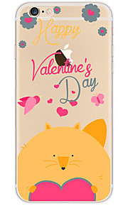 kakashi schattige dieren patroon TPU schilderij zachte hoes voor de iPhone 6s / 6 / 6s plus / 6 plus (Sweety fox)