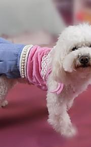 犬用品 ドレス ピンク / イエロー 夏 / 春/秋 クラシック / 水玉 / パール 結婚式 / クリスマス / バレンタインデー / ファッション-Lovoyager