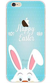 kakashi schattige dieren patroon TPU schilderij zachte hoes voor de iPhone 6s / 6 / 6s plus / 6 plus (gelukkig konijn)
