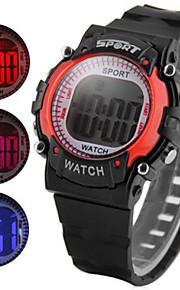 levaram as crianças assistem pulseira de borracha alarme diurno colorido data luz relógio de pulso