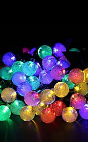 Solar Fairy String Lights 10m/33ft 60 LED Crystal Balls Decorative Gardens, Lawn, Patio, Christmas Trees, Weddings