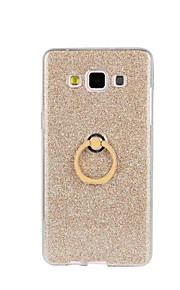 tilbage Stötsäker / med stativ Glittrig TPU Mjuk Flash powder with ring clasp Fallet täcker för Samsung Galaxy A8 / A7 / A5 / A3