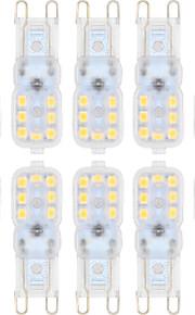 3W G9 LED-lamper med G-sokkel T 14 SMD 2835 300 lm Varm hvit / Kjølig hvit Dimbar AC 220-240 / AC 110-130 V 10 stk.