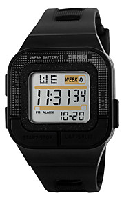 Unissex Relógio Esportivo Digital LED / Calendário / Cronógrafo / Impermeável / alarme / Luminoso / Cronômetro PU Banda Legal Preta / Rose