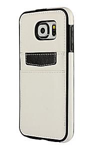 Hel kropp plånbok / Stötsäker / Dammfri Solid Färg PU-läder Mjuk Wallet Fallet täcker för Samsung Galaxy S6