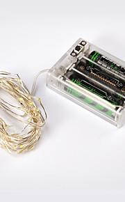 NO 4 M 40 Dip Led 웜 화이트 / 화이트 / RGB / 레드 / 옐로 / 블루 / 그린 / 퍼플 / 핑크 방수 4.5 W 스트링 조명 DC5 V