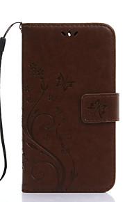 Full Body portfel / Kieszonka na kartę / z podstawką Tek Renk Skóra PU Twardy Embossing lanyard Skrzynki pokrywa Dla Samsung GalaxyJ5