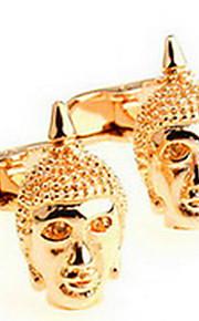 Manchetknapper Set 1 par,Ensfarvet Gylden Moderigtig Manchetknapper Mænds Smykker