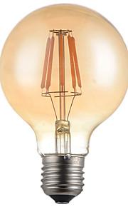 4W E26/E27 LED-glødepærer G95 4 Høyeffekts-LED 360lm lm Varm hvit Dekorativ AC 220-240 V 1 stk.