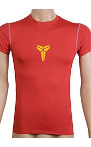 Course Shirt / Costume de compression/Sous maillot Homme Manches courtes Respirable / Séchage rapide / Compression / Anti-transpiration