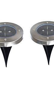 6W Soldrevne LED-lamper 200 lm Varm hvit DIP-LED Batteri V 2 stk