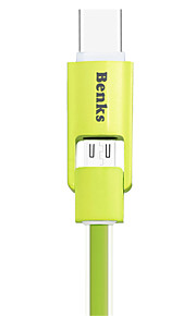 Benks 2-in-1 Type C and Micro USB Cable For Android and Type C Devices