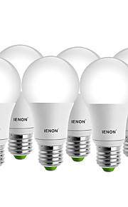 5W E26/E27 LED-globepærer A60(A19) 1 COB 400-450 lm Varm hvit / Kjølig hvit Dekorativ AC 100-240 V 6 stk.