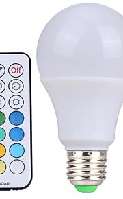 10W E26/E27 LED-globepærer A60(A19) 12 SMD 600-800 lm Kjølig hvit / RGB Dimbar / Fjernstyrt / DekorativAC 85-265 / AC 220-240 / AC