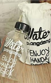 garrafa de graffiti 600ml de água de plástico com tampa de matéria têxtil