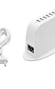 7 porte USB Porte Multi Presa EU caricatore domestico con cavo per iPad / per il cellulare / Per Altro Pad / For iPhone5V , 1A / 2,1A /