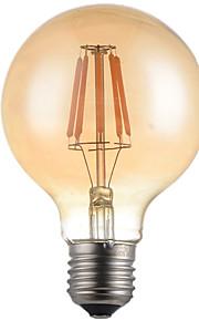 6W E26/E27 LED-glødepærer G95 6 Høyeffekts-LED 500lm lm Varm hvit Dekorativ AC 220-240 V 1 stk.