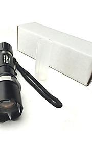 LED손전등 LED 3 모드 300 루멘 조절가능한 초점 / 방수 / 충전식 / 자기 방어 크리Q5 18650 / AAA 캠핑/등산/동굴탐험 / 일상용 / 야외-기타,블랙 알루미늄 합금