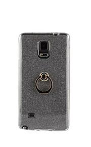tilbage Stötsäker / med stativ Glittrig TPU Mjuk Flash powder with ring clasp Fallet täcker för Samsung Galaxy Note 5 / Note 4 / Note 3