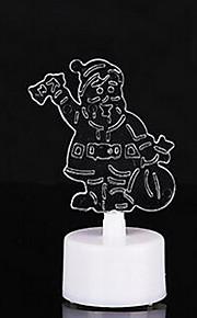 10st / pack färgstarka jultomten ledde ljus nattlampa