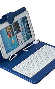 10inch universele tablet tas met toetsenbord blue
