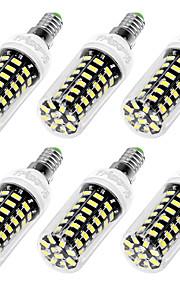 7W E12 / E26/E27 LED-kornpærer T 64 SMD 5733 560 lm Varm hvit / Kjølig hvit Dekorativ AC 110-130 V 6 stk.