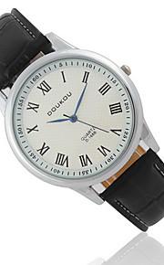 Casal Relógio de Moda Quartz / Couro Banda Legal / Casual Preta / Branco / Vermelho / Marrom marca