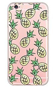 patrón de la fruta de la piña tpu suave de la contraportada translúcido ultrafino para el iPhone de Apple 6s 6 Plus SE / 5s / 5