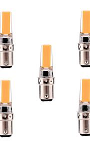 5W BA15d LED-lamper med G-sokkel T 1 COB 400-500 lm Varm hvit / Kjølig hvit Dimbar / Dekorativ AC 220-240 / AC 110-130 V 5 stk.