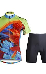 PaladinSport Women  Cycyling Jersey + Shorts Suit DT684 Sunflower