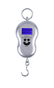 Portable Electronic Scale (Maximum Scale: 50 KG, English Version, Silver)
