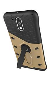 Achterkant Stootvast / met Tribune Schild PC Hard Geval voor Motorola Moto G4 Play / Moto Z
