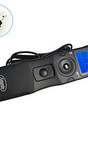 sidande® 7105 tempo lcd lapso intervalometer controle remoto do obturador temporizador para Nikon D80 / D70