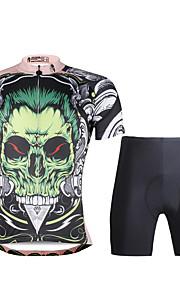 PaladinSport Women  Cycyling Jersey + Shorts Suit DT688 Green skeleton