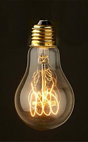 40ワット2700Kヴィンテージエジソン電球A19アンティークフィラメントスタイル白熱電球媒体(ac220-240v)