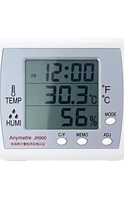 elektronisk hygrometer (Temperatur-10 ~ 50 ° C, luftfuktighet 10 ~ 99% RH)